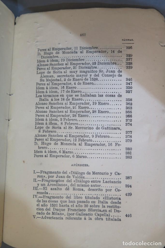 Libros antiguos: 1875.- MEMORIAS PARA LA HISTORIA DEL ASALTO Y SAQUEO DE ROMA EN 1527 POR EL EJERCITO IMPERIAL - Foto 7 - 278508513
