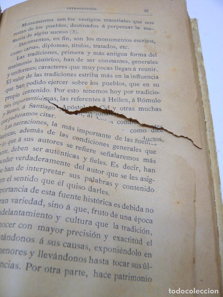 Libros antiguos: HISTORIA CRITICA DE ESPAÑA - FEDERICO SCHWARTZ - UNIVERSIDAD BARCELONA AÑO 1889. PERGAMINO - Foto 3 - 287795228