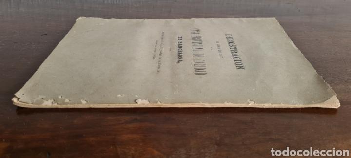 Libros antiguos: Antigua Demostración Derecho Casa Provincial Caridad BCN Reivindicar Plaza Toros Barceloneta 1878 - Foto 7 - 287974403