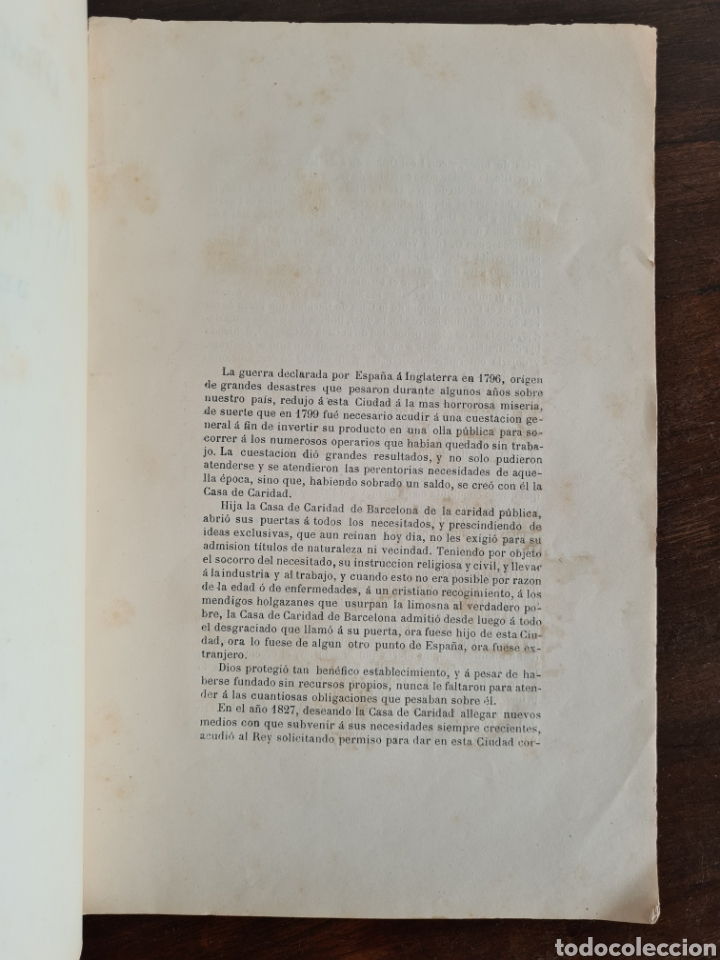 Libros antiguos: Antigua Demostración Derecho Casa Provincial Caridad BCN Reivindicar Plaza Toros Barceloneta 1878 - Foto 11 - 287974403