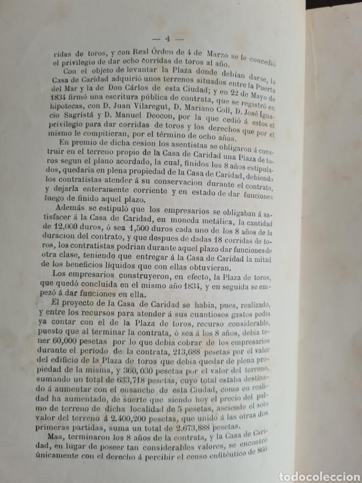 Libros antiguos: Antigua Demostración Derecho Casa Provincial Caridad BCN Reivindicar Plaza Toros Barceloneta 1878 - Foto 12 - 287974403