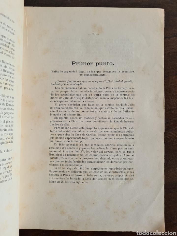 Libros antiguos: Antigua Demostración Derecho Casa Provincial Caridad BCN Reivindicar Plaza Toros Barceloneta 1878 - Foto 15 - 287974403