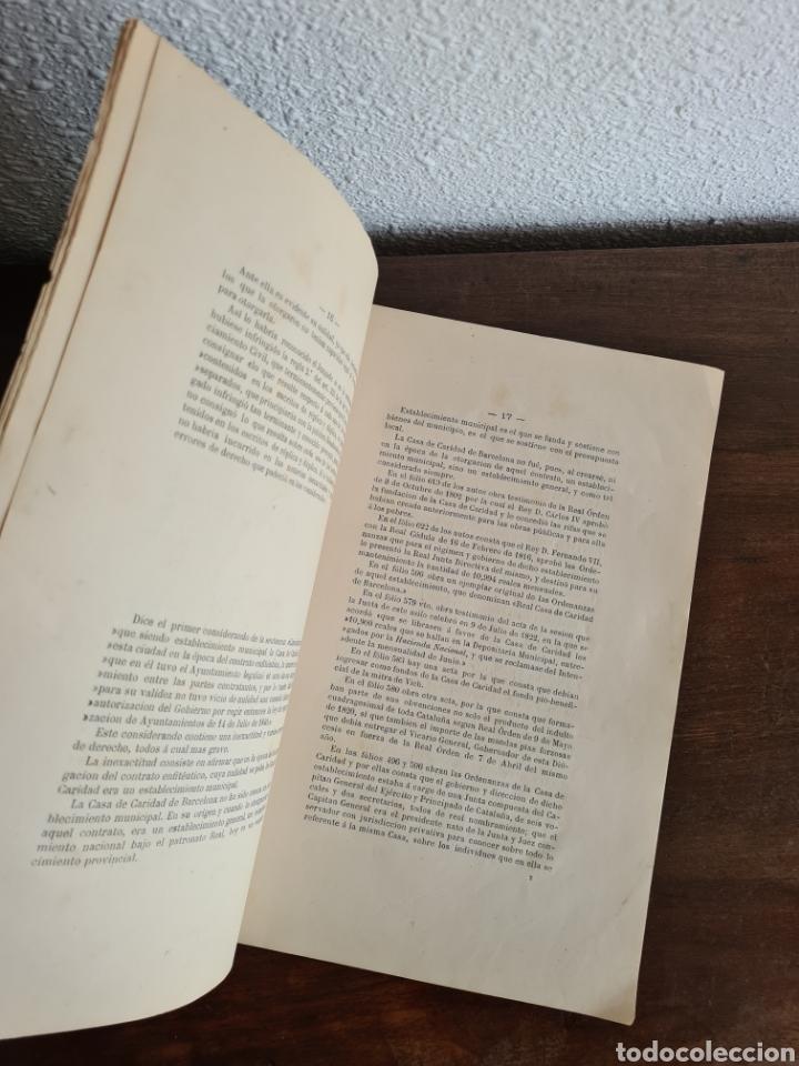 Libros antiguos: Antigua Demostración Derecho Casa Provincial Caridad BCN Reivindicar Plaza Toros Barceloneta 1878 - Foto 16 - 287974403