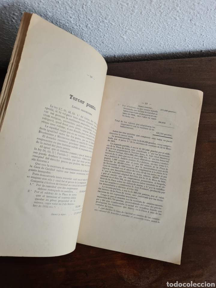 Libros antiguos: Antigua Demostración Derecho Casa Provincial Caridad BCN Reivindicar Plaza Toros Barceloneta 1878 - Foto 23 - 287974403