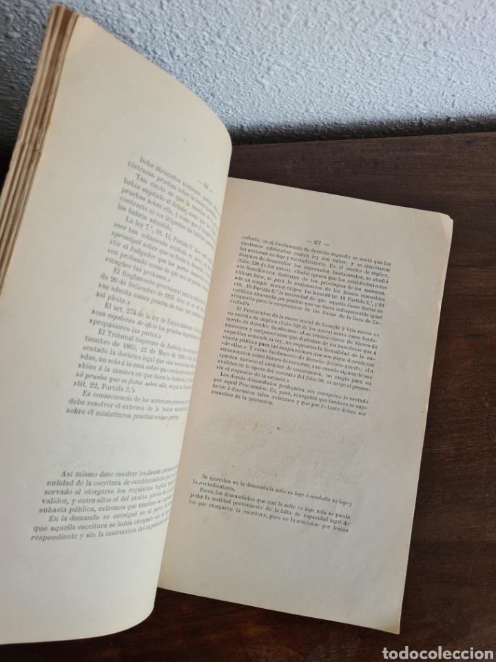 Libros antiguos: Antigua Demostración Derecho Casa Provincial Caridad BCN Reivindicar Plaza Toros Barceloneta 1878 - Foto 24 - 287974403