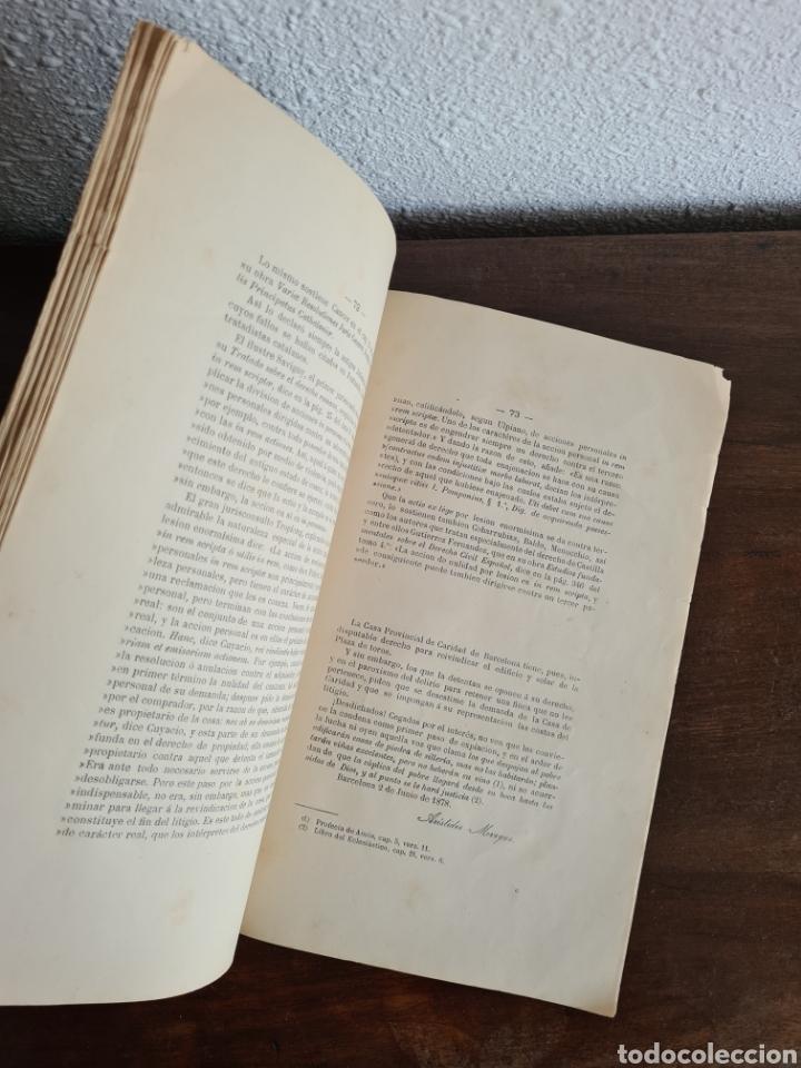 Libros antiguos: Antigua Demostración Derecho Casa Provincial Caridad BCN Reivindicar Plaza Toros Barceloneta 1878 - Foto 26 - 287974403
