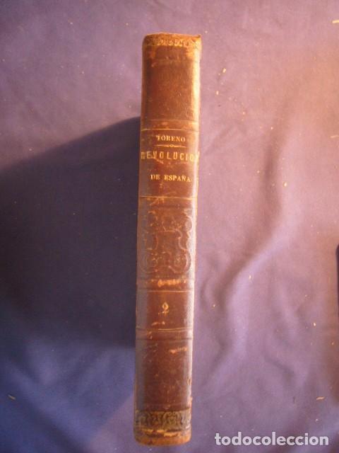 CONDE DE TORENO: - HISTORIA DEL LEVANTAMIENTO, GUERRA Y REVOLUCIÓN DE ESPAÑA (TOMO II) (1848) (Libros antiguos (hasta 1936), raros y curiosos - Historia Moderna)