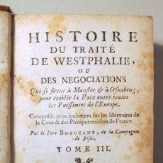 Libros antiguos: BOUGEANT, PÈRE - L'HISTOIRE DU TRAITÉ DE WESTPHALIE OU DES NEGOCIATIONS. VOL. 3 - AMSTERDAM 1751. Lote 289298688