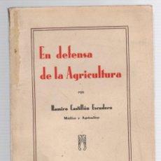 Livres anciens: EN DEFENSA DE LA AGRICULTURA. RAMIRO CASTILLON ESCUDERO, MEDICO Y AGRICULTOR. HUESCA, 1933. Lote 293573503