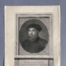 Libri antichi: SIGLO XVIII - GRABADO DE FERNANDO MAGALLANES - NAVEGADOR - PRIMERA VUELTA AL MUNDO. Lote 293718823