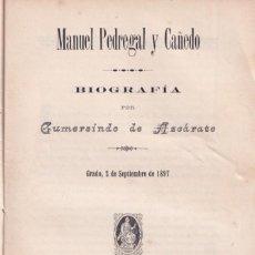 Libri antichi: GUMERSINDO DE AZCÁRATE: MANUEL PEDREGAL Y CAÑEDO. 1897. GRADO. ASTURIAS. Lote 295710168
