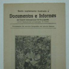 Libros antiguos: DOCUMENTOS E INFORMES DEL COMITÉ INTERNACIONAL DE PROPAGANDA. SERVICIO FOTOGRÁFICO EJÉRCITO FRANCÉS.. Lote 20198200