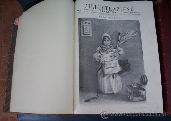 Libros antiguos: LILLUSTRAZIONE ITALIANA - AÑO 1914 - 2 TOMOS (AÑO COMPLETO) - ENVÍO GRATIS - Foto 2 - 23941672