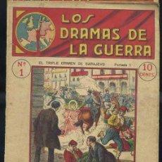 Libros antiguos: LOS DRAMAS DE LA GUERRA Nº1 : EL TRIPLE CRIMEN DE SARAJEVO. Lote 31456535