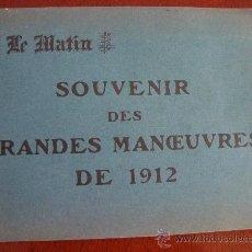 Libros antiguos: (378) SOUVENIR DES GRANDES MANOEUVRES DE 1912. Lote 31774139