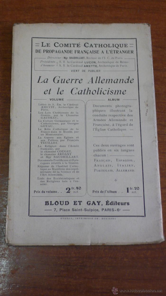 Libros antiguos: LOPINION AMÉRICAINE ET LA GUERRE PAR HENRI LICHTENBERGER. 1915. - Foto 2 - 42324184