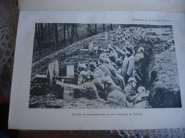 Libros antiguos: Episodios de la Guerra Europea - Foto 11 - 48391113