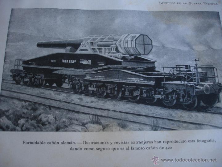 Libros antiguos: Episodios de la Guerra Europea - Foto 12 - 48391113