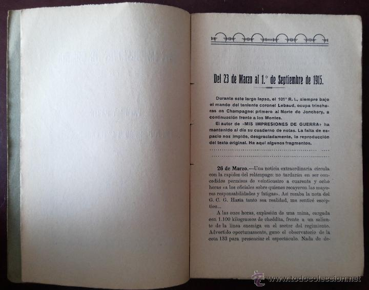 Libros antiguos: MIS PRIMERAS IMPRESIONES DE GUERRA (II), MAYO 1930. PRIMERA GUERRA MUNDIAL. VERS. ESPAÑOLA E. ALAMÁN - Foto 8 - 50684268