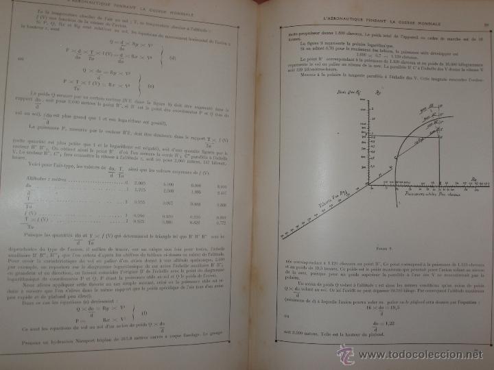 Libros antiguos: LAÉRONAUTIQUE PENDANT LA GUERRE MONDIALE. MAURICE DE BRUNOFF 1919 (MAGNIFICO EJEMPLAR HISTORICO) - Foto 3 - 52447240