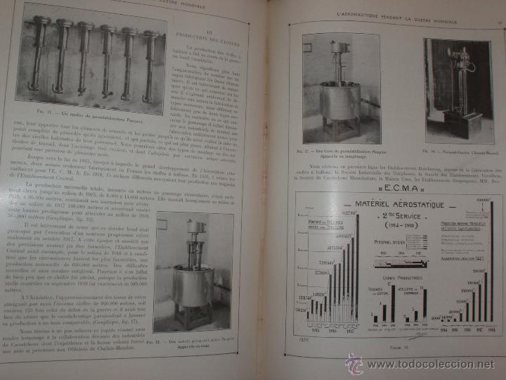 Libros antiguos: LAÉRONAUTIQUE PENDANT LA GUERRE MONDIALE. MAURICE DE BRUNOFF 1919 (MAGNIFICO EJEMPLAR HISTORICO) - Foto 4 - 52447240