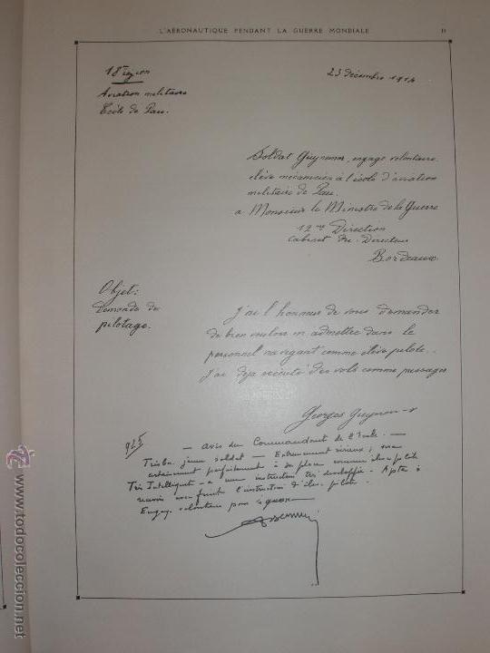 Libros antiguos: LAÉRONAUTIQUE PENDANT LA GUERRE MONDIALE. MAURICE DE BRUNOFF 1919 (MAGNIFICO EJEMPLAR HISTORICO) - Foto 6 - 52447240