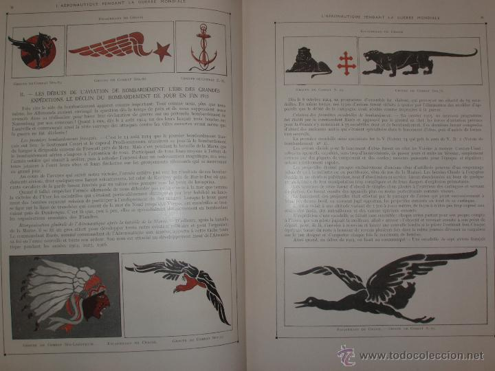 Libros antiguos: LAÉRONAUTIQUE PENDANT LA GUERRE MONDIALE. MAURICE DE BRUNOFF 1919 (MAGNIFICO EJEMPLAR HISTORICO) - Foto 11 - 52447240
