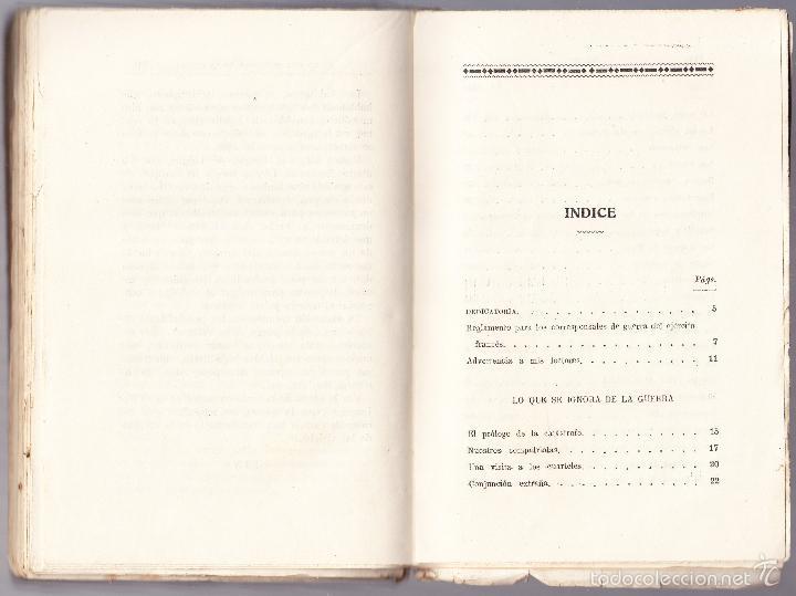 Libros antiguos: LO QUE SE IGNORA DE LA GUERRA - CRONICAS ESCRITAS - ALEJANDRO SUX - Foto 3 - 58481105