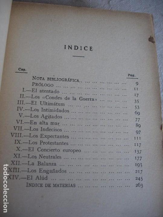 Libros antiguos: LUDWIG, EMIL: JULIO, 1914 EL MES TRAGICO - Foto 3 - 63427192