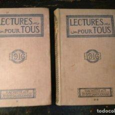 Libros antiguos: REVISTA LECTURES POUR TOUS (AÑO 1915 A 1916 COMPLETO). HACHETTE, 1ª GUERRA MUNDIAL.. Lote 76474307