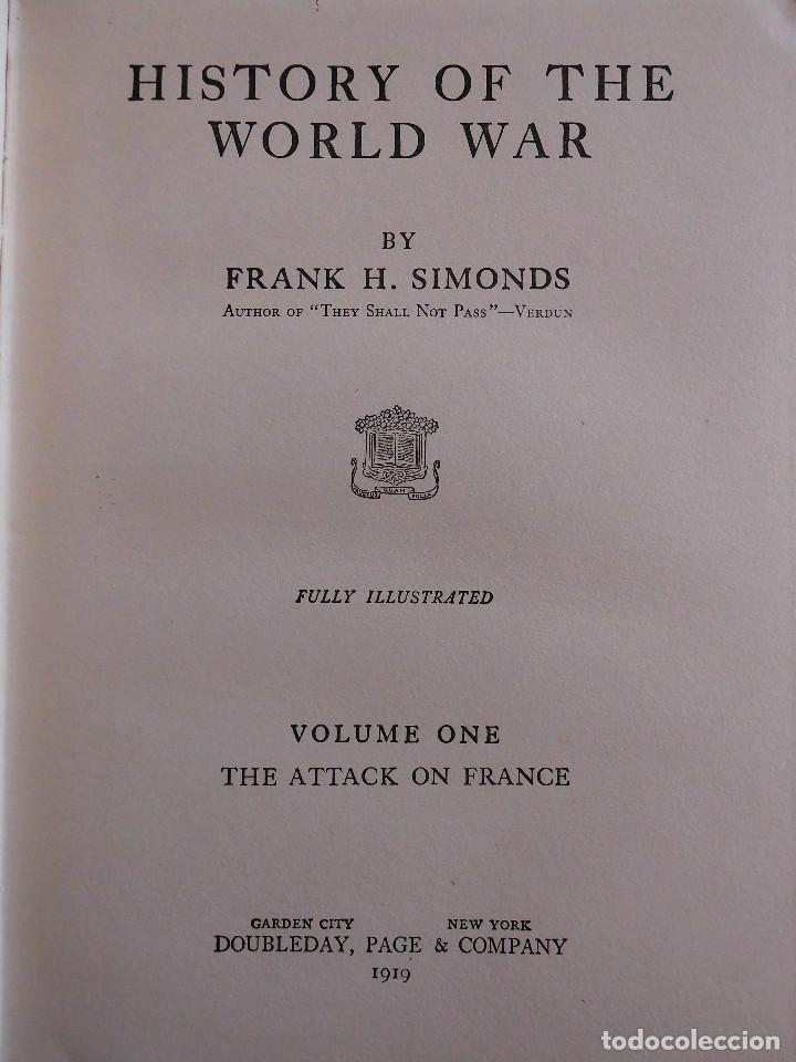 HISTORY OF THE WORLD WAR (1919), VOLUMENES 1, 2 Y 3. PRIMERA GUERRA MUNDIAL, AMPLIAMENTE ILUSTRADA. (Libros antiguos (hasta 1936), raros y curiosos - Historia - Primera Guerra Mundial)