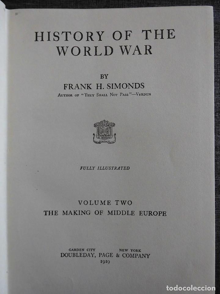 Libros antiguos: HISTORY OF THE WORLD WAR (1919), VOLUMENES 1, 2 Y 3. PRIMERA GUERRA MUNDIAL, AMPLIAMENTE ILUSTRADA. - Foto 8 - 77244533