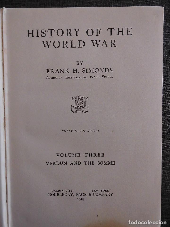 Libros antiguos: HISTORY OF THE WORLD WAR (1919), VOLUMENES 1, 2 Y 3. PRIMERA GUERRA MUNDIAL, AMPLIAMENTE ILUSTRADA. - Foto 15 - 77244533
