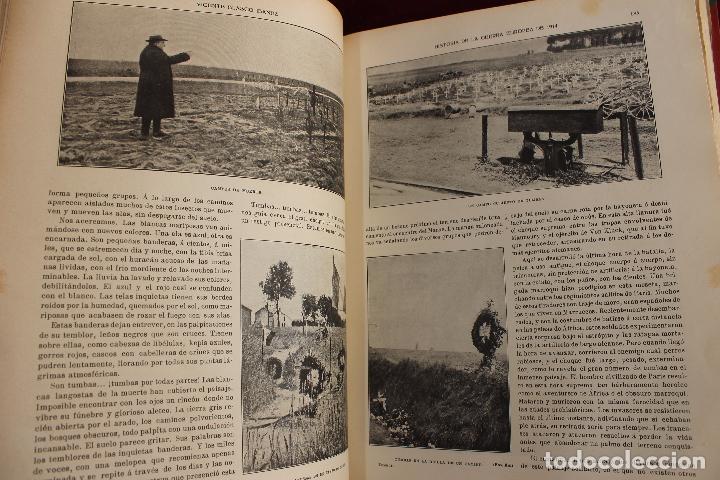 Libros antiguos: HISTORIA DE LA GUERRA EUROPEA DE 1914, BLASCO IBAÑEZ, 5 TOMOS, PROMETEO, VALENCIA - Foto 6 - 110309258