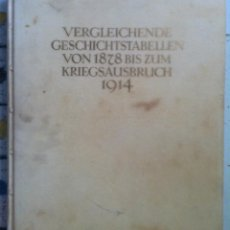 Libros antiguos: VERGLEICHENDE GESCHICHTSTABELLEN VON 1878 BIS ZUM KRIEGSAUSBRUCH 1914. 1921. EX. 42/100. Lote 89582316