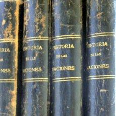 Libros antiguos: HISTORIA DE LAS NACIONES-HUTCHINSON CO/ED.SEGUI-GUILLERMO DE BOLADERES 1920'S-4 TOMOS. Lote 103892551