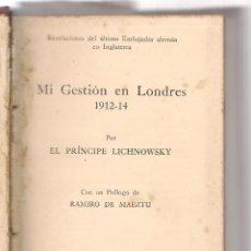Libros antiguos: TOMO CON 11 OBRAS DE LA EPOCA RELACIONADAS CON LA PRIMERA GUERRA MUNDIAL. Lote 104062079