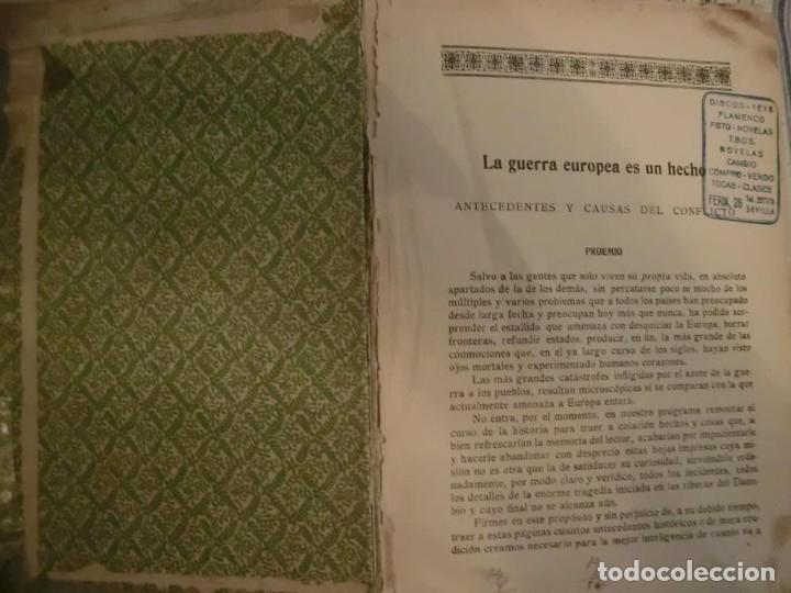 Libros antiguos: PRIMERA GUERRA MUNDIAL. EPISODIOS DE LA GRAN GUERRA.COMPLETA EN 6 TOMOS. - Foto 4 - 218881647