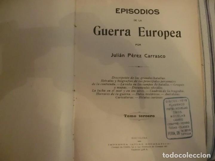 Libros antiguos: PRIMERA GUERRA MUNDIAL. EPISODIOS DE LA GRAN GUERRA.COMPLETA EN 6 TOMOS. - Foto 8 - 218881647