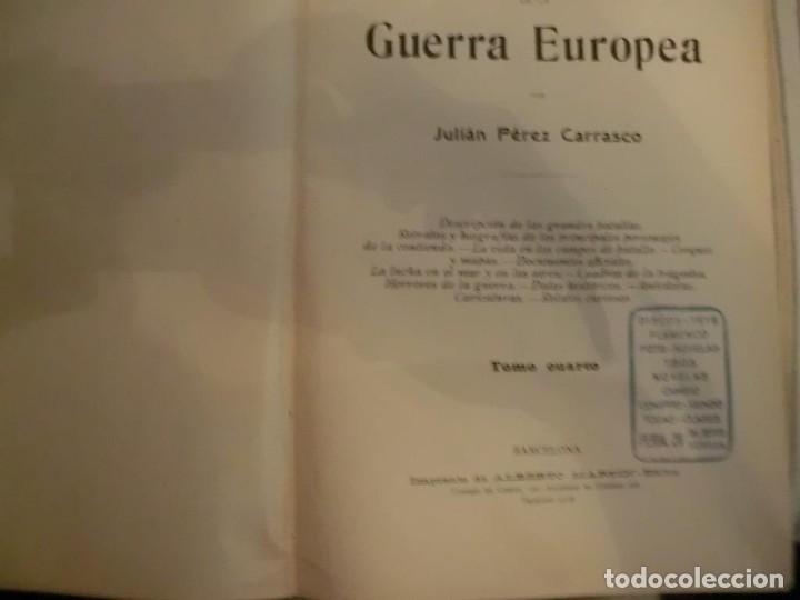 Libros antiguos: PRIMERA GUERRA MUNDIAL. EPISODIOS DE LA GRAN GUERRA.COMPLETA EN 6 TOMOS. - Foto 10 - 218881647