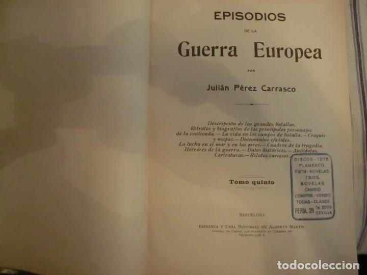 Libros antiguos: PRIMERA GUERRA MUNDIAL. EPISODIOS DE LA GRAN GUERRA.COMPLETA EN 6 TOMOS. - Foto 13 - 218881647