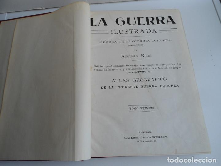 Libros antiguos: LA GUERRA ILUSTRADA - CRONICA DE LA GUERRA EUROPEA - AUGUSTO RIERA - EDIT. SEGUI - 1920 - 5 TOMOS - Foto 6 - 123552175