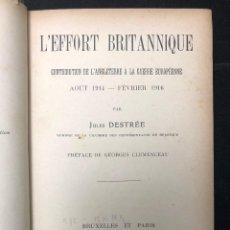Libros antiguos: CONTRIBUTION DE L´ANGLATERRE À LA GUERRE EUROPÉENNE. Lote 123786471