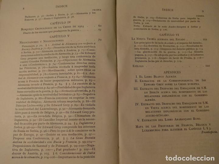 Libros antiguos: POR QUÉ ESTAMOS EN GUERRA, Justificación de la Gran Bretaña 1914 - Foto 4 - 124334115