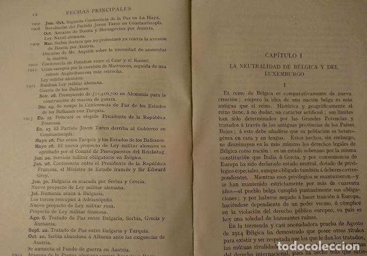 Libros antiguos: POR QUÉ ESTAMOS EN GUERRA, Justificación de la Gran Bretaña 1914 - Foto 6 - 124334115