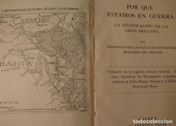 Libros antiguos: POR QUÉ ESTAMOS EN GUERRA, Justificación de la Gran Bretaña 1914 - Foto 7 - 124334115