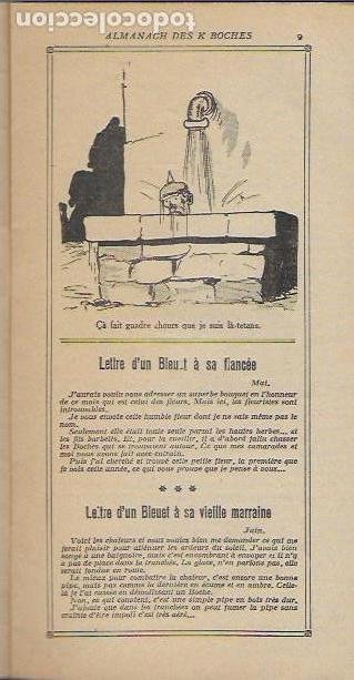 Libros antiguos: Almanach K-boches 1918. Fontrenay aux Roses : Imp. L. Bellenand. 21x10,5 cm. 32 p. - Foto 5 - 128682715