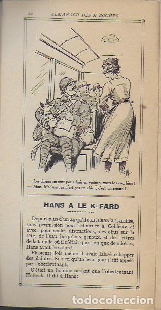 Libros antiguos: Almanach K-boches 1918. Fontrenay aux Roses : Imp. L. Bellenand. 21x10,5 cm. 32 p. - Foto 6 - 128682715