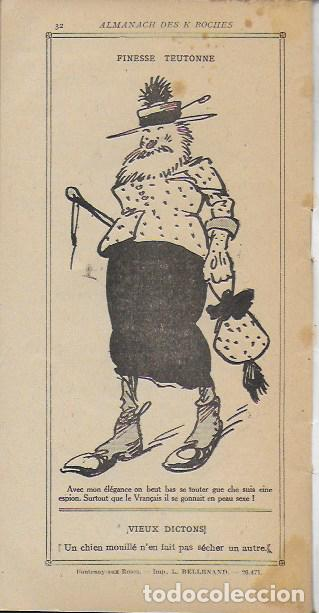 Libros antiguos: Almanach K-boches 1918. Fontrenay aux Roses : Imp. L. Bellenand. 21x10,5 cm. 32 p. - Foto 8 - 128682715
