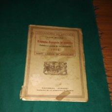 Libros antiguos: ESPAÑA DURANTE LA GUERRA, 1914-1918. Lote 129707212